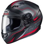 Semi-Flat Black/Gray/Red CS-R3 Trion MC-1SF Helmet - 142-714