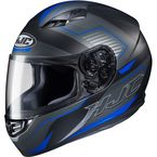 Semi-Flat Black/Gray/Blue CS-R3 Trion MC-2SF Helmet - 142-724