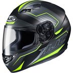 Semi-Flat Black/Gray/Hi-Viz CS-R3 Trion MC-3HSF Helmet - 142-734