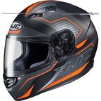 Semi-Flat Black/Gray/Orange CS-R3 Trion MC-6HSF Helmet - 142-764