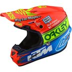Orange/Blue Team Edition 2 SE4 Composite Helmet - 101672004