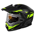 Matte Black/Hi-Vis EXO-CX950 Blitz Snow Helmet w/Electric Shield - 45-29468
