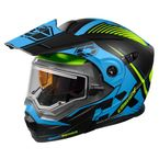 Matte Blue/Hi-Vis EXO-CX950 Focus Snow Helmet w/Electric Shield - 45-29326