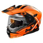 Gloss Orange/White EXO-CX950 Focus Snow Helmet w/Electric Shield - 45-29366