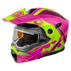 Matte Pink/Hi-Vis EXO-CX950 Focus Snow Helmet w/Electric Shield - 45-29386
