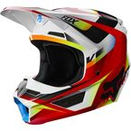 Youth Red/White V1 Motif Helmet - 21784-054-M