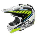 Yellow/White/Silver VX-Pro 4 Spike Helmet - 820293
