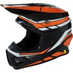 Black/Orange/White F.I Helmet - 0110-5710