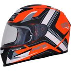 Matte Orange/White FX-99 Helmet - 0101-11167