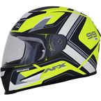 Matte Yellow/White FX-99 Helmet - 0101-11175