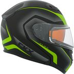 Matte Black/Green/Charcoal Flex RSV Lucas Modular Snow Helmet w/Electric Shield - 505834#