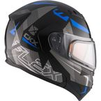 Black/Gray/Blue Flex RSV Hero Modular Snow Helmet w/Electric Shield - 510034#