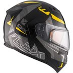 Black/Gray/Yellow Flex RSV Hero Modular Snow Helmet w/Electric Shield - 510045#