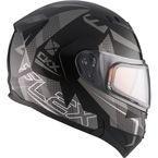 Black/Gray Flex RSV Hero Modular Snow Helmet w/Electric Shield - 510054#