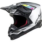 Silver/Black Supertech M8 Contact Helmet - 8300819-191-LG