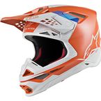 Light Orange/Gray Supertech M8 Contact Helmet - 8300819-410-LG
