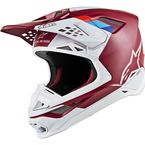 Dark Red/White Supertech M8 Contact Helmet - 8300819-3032-LG