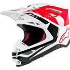 Red/White Gloss Supertech M8 Triple Helmet - 8301319-3182-LG