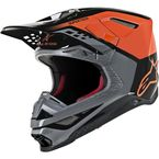 Orange/Black Gloss Supertech M8 Triple Helmet - 8301319-4184-MD