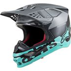 Black/Gray/Teal Supertech M8 Radium Helmet - 8301519-1306-LG
