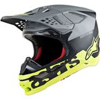Black/Gray/Yellow Supertech M8 Radium Helmet - 8301519-1305-LG