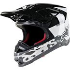 White/Black/Gray Gloss Supertech M8 Radium Helmet - 8301519-2182-LG