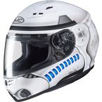 Matte White/Gray/Blue CS-R3 Star Wars Storm Trooper Helmet - 144-704