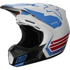 White/Red/Blue V3 RWT Limited Edition Helmet - 20857-574-M