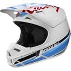 Youth White/Red/Blue V1 RWT Special Edition Helmet - 20867-574-L