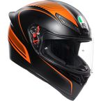 Black/Orange K1 Warmup Helmet - 0281O2I000109