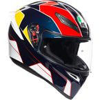 Blue/Red/Yellow K1 Pitlane Helmet - 0281O2I000309