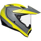 Black/White/Cyan Blue AX-9 Helmet - 7631O2LY00509