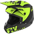 Youth Matte Black/Hi-Vis Elite Vigilant Helmet - 73-8615YL