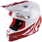 White/Red F2 Carbon MIPS Shield Helmet - 73-4242L