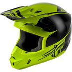 Youth Black/Hi-Vis Yellow Kinetic Sharp Helmet - 73-3400YM