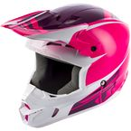 Youth Pink/White Kinetic Sharp Helmet - 73-3409YL