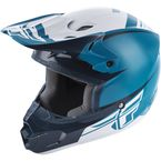 Youth Teal/Blue Kinetic Sharp Helmet - 73-3403YS