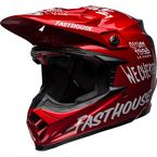 Matte Navy/Gloss Red/White Moto-9 Fasthouse Day in the Dirt 19 Helmet - 7102086