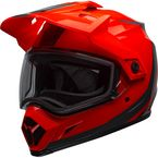 Flo Orange/Black MX-9 Adventure Switchback Snow Helmet w/Dual Lens Shield - 7098081