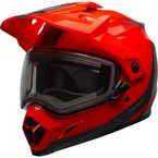 Flo Orange/Black MX-9 Adventure Switchback Snow Helmet w/Electric Shield - 7098733