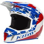Non-Current Red/White/Blue Patriot 2.0 F3  Helmet - 3110-000-120-012