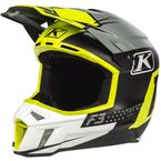 Lime/White/Gray/Black Bomber F3 Helmet - 3110-000-140-013