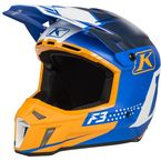Orange/White/Gray Bomber F3 Helmet - 3110-000-140-015