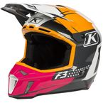 Rose/White/Orange/Black Bomber F3 Helmet - 3110-000-130-016
