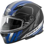 Youth Matte Black/Blue GM49YS Rogue Helmet w/Dual Lens Shield - 72-6009YM