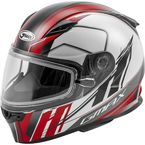 Youth White/Red/Black GM49YS Rogue Helmet w/Dual Lens Shield - 72-6008YL