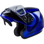 Blue/Black MD04S Docket Modular Snow Helmet w/Dual Lens Shield - G2042046