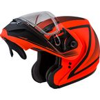 Hi-Vis Orange/Black MD04S Docket Modular Snow Helmet w/Dual Lens Shield - G2042666