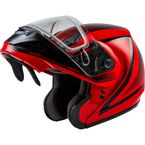 Red/Black MD04S Docket Modular Snow Helmet w/Dual Lens Shield - G2042036