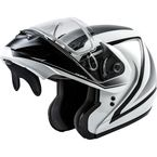 White/Gray/Black MD04S Docket Modular Snow Helmet w/Dual Lens Shield - G2042016